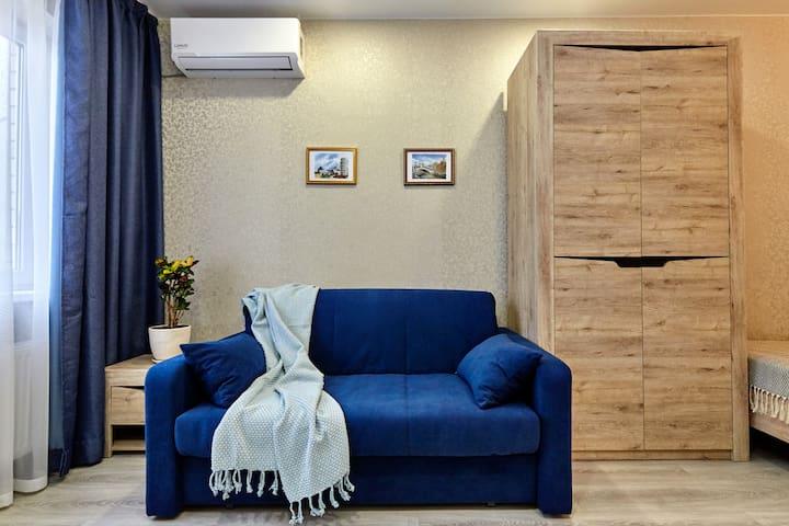 Комфортный раскладывающийся диван (система аккордион) с шириной спального места 140 см