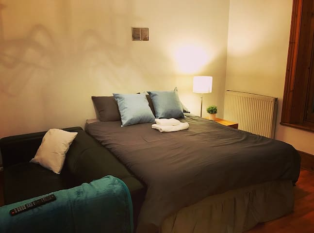 Recently refurbished extra large double room