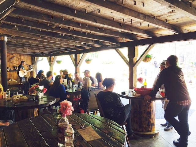 Live music at local, organic BashaKill Winery.