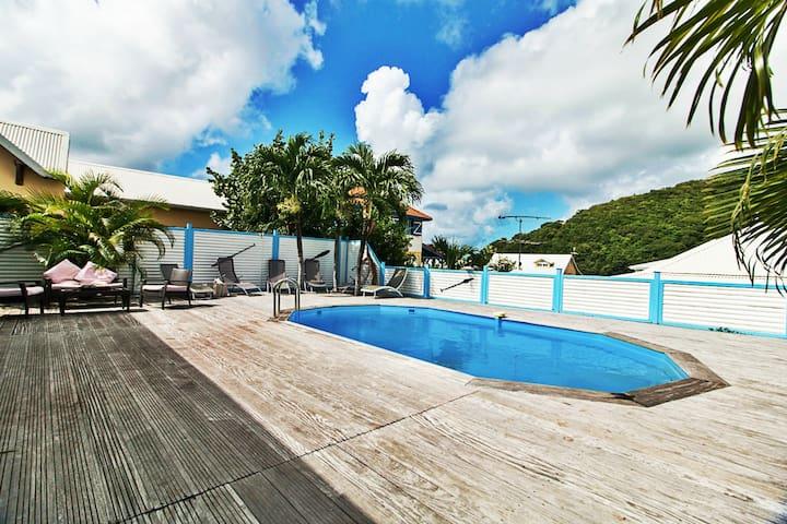 Villa Azur 6/8pers avec piscine à 600m de la mer