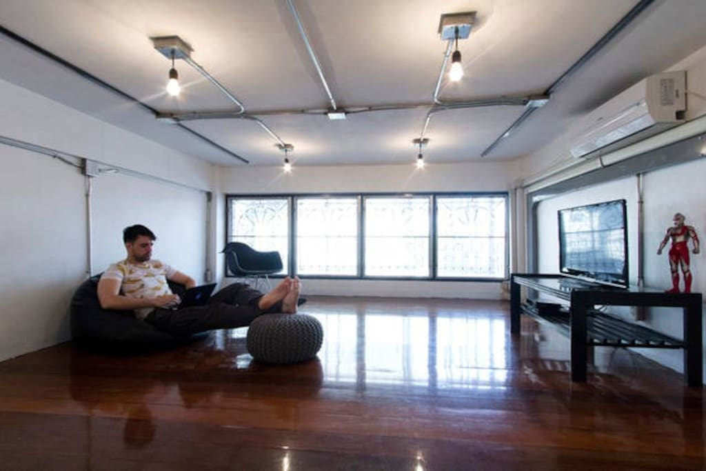 Our coworkspace! Guests love our central Bangkok location, and our easy walking distance to anything they could possibly need!