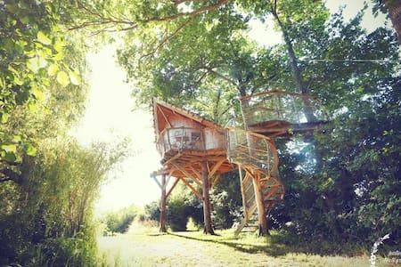 La Chouette Cabane - Oural - Pommerieux - 树屋