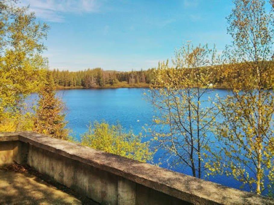Vue du magnifique lac
