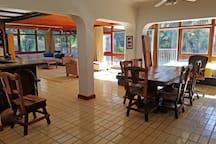 Open plan reception rooms