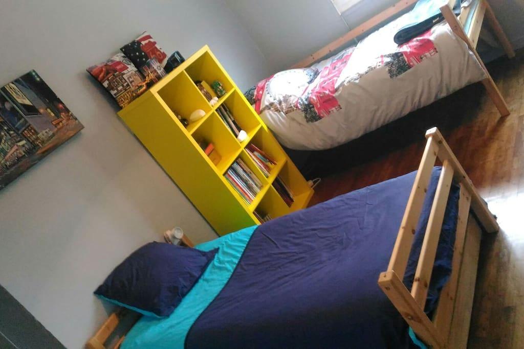 La chambre qui vous accueillera.
