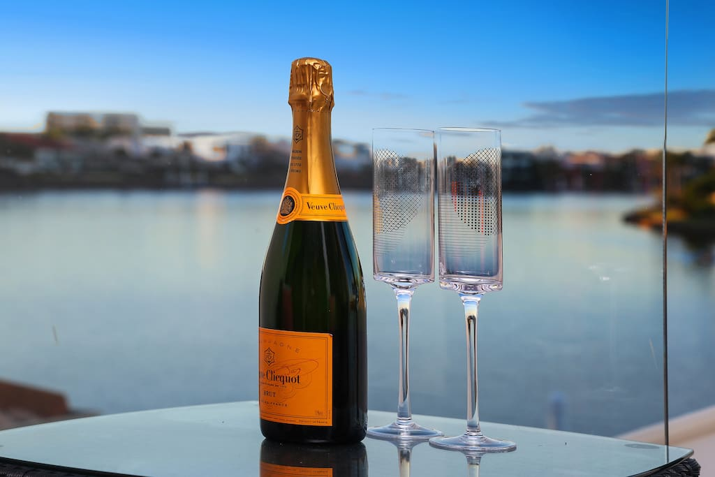 Enjoy a relaxing champagne