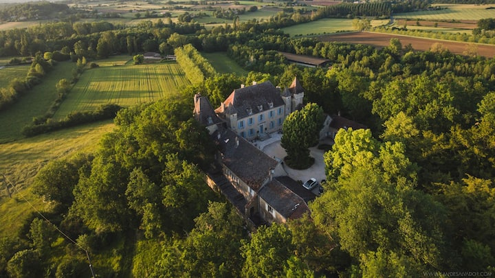 Charming B&B in a 17C castle - Ladausse suite