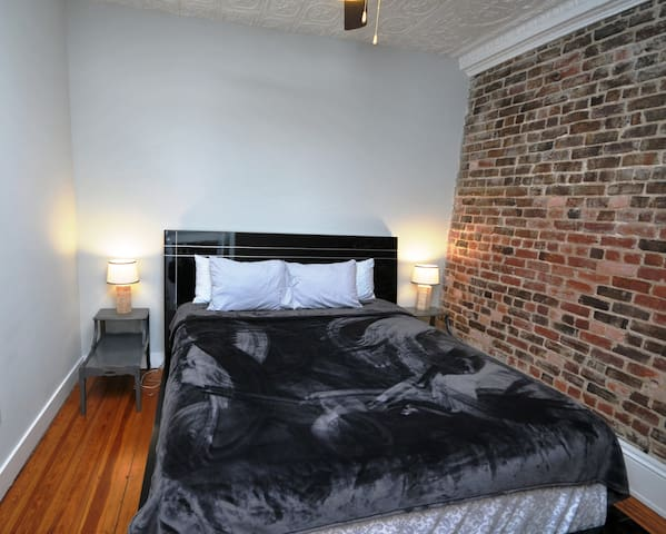 This is one of the most comfortable beds you will ever sleep on!  If you don't believe me, just check our reviews! Nearly 200 total stays in our building with an average 4.9 rating, we think you will really like staying here! !