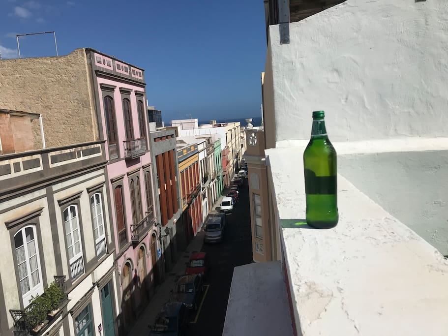 Have a beer or smoke on the rooftop?