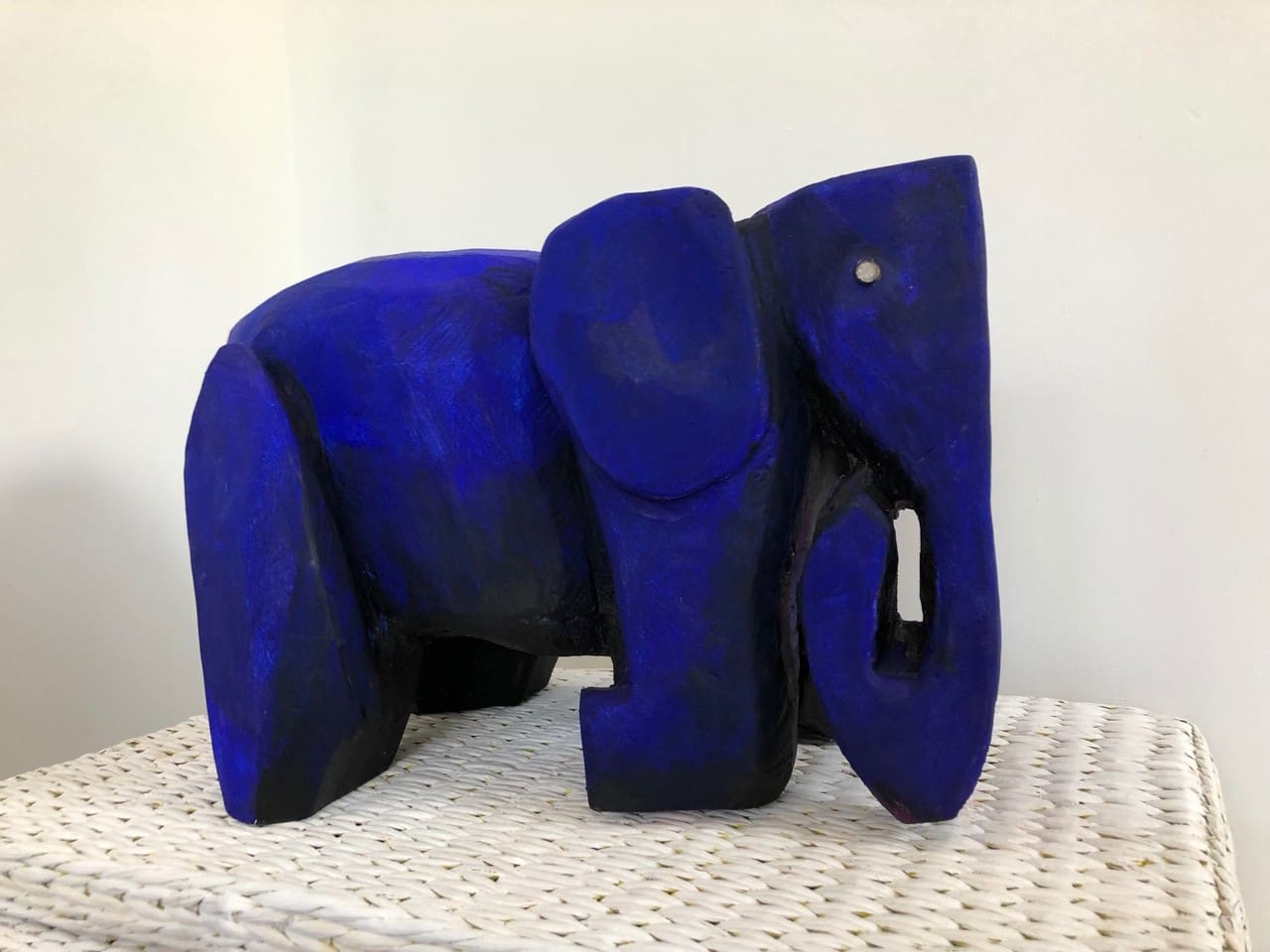 The blue elephant is one of the sculptures that live at the gallery :)