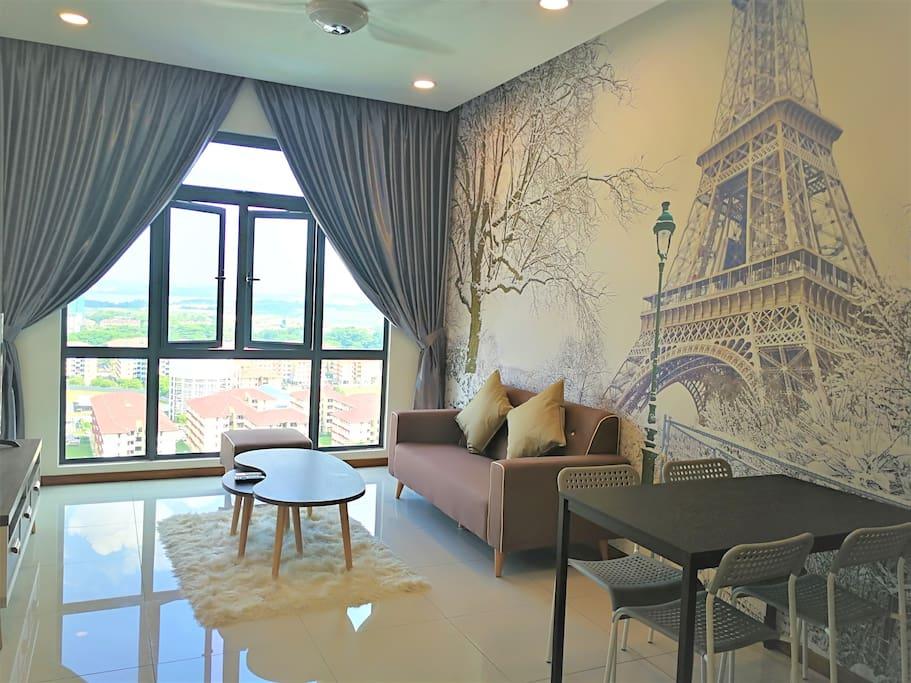 Paris Eiffel Tower @ My Living Hall