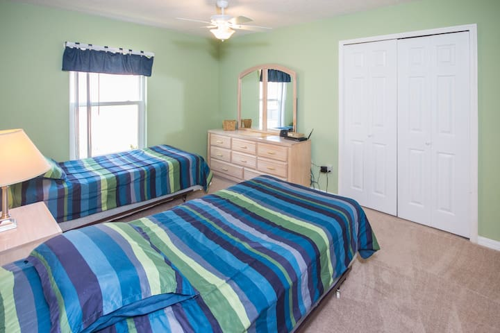 kids bedroom, with two twin beds