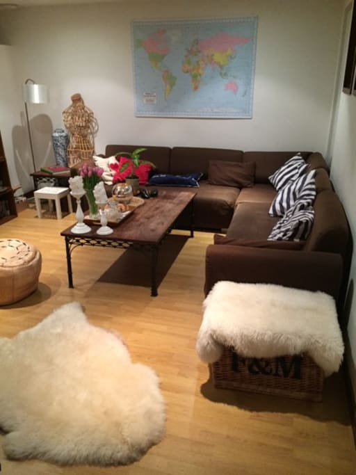 Large living-room space with a HD TV and Sky, Netflix and wi-fi available.