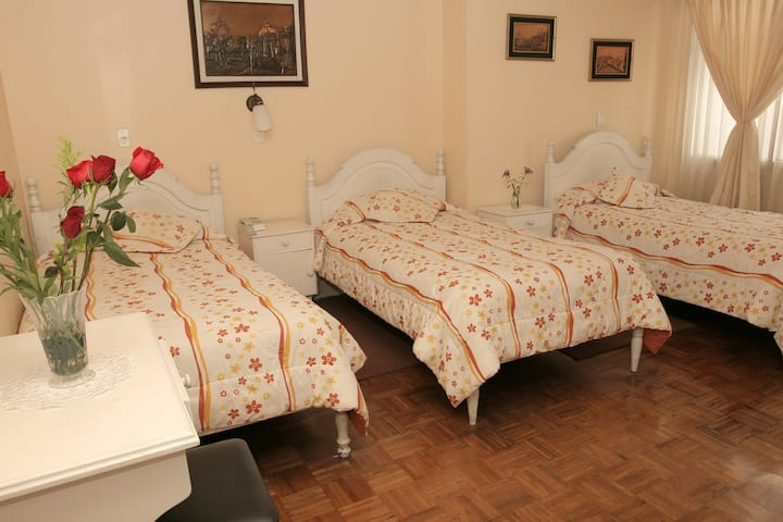 Triple Room in the center of Quito.