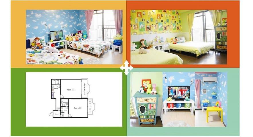 ♡Luxury 『Toy Box』 room♡2 bath☆/Namba Station~6min