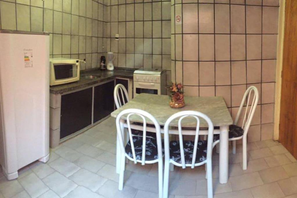 Cozinha Comunitário já com utensílios