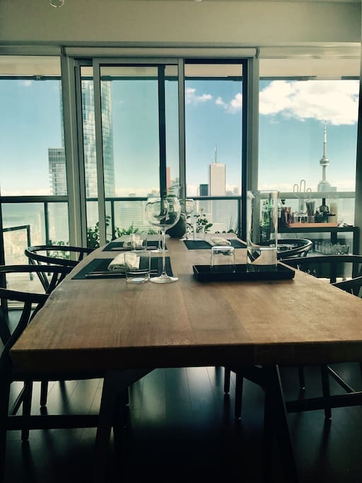 Dining Room table and fantastic views