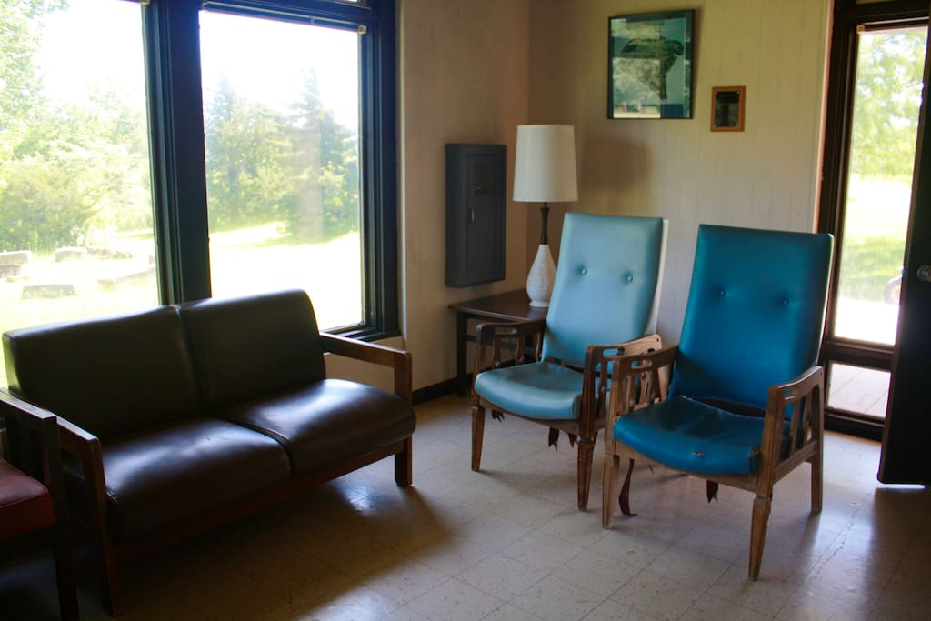 The lobby furniture varies from cabin to cabin, but the lobby's remain the same.