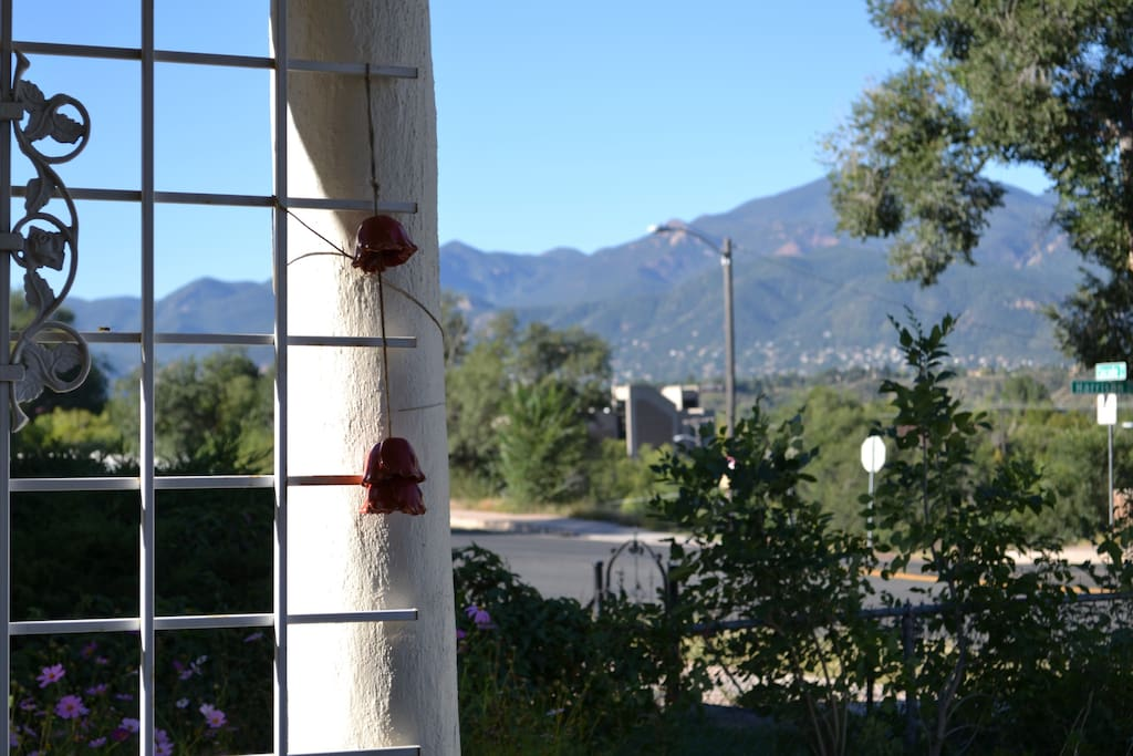 view of the mountains from the front porch.