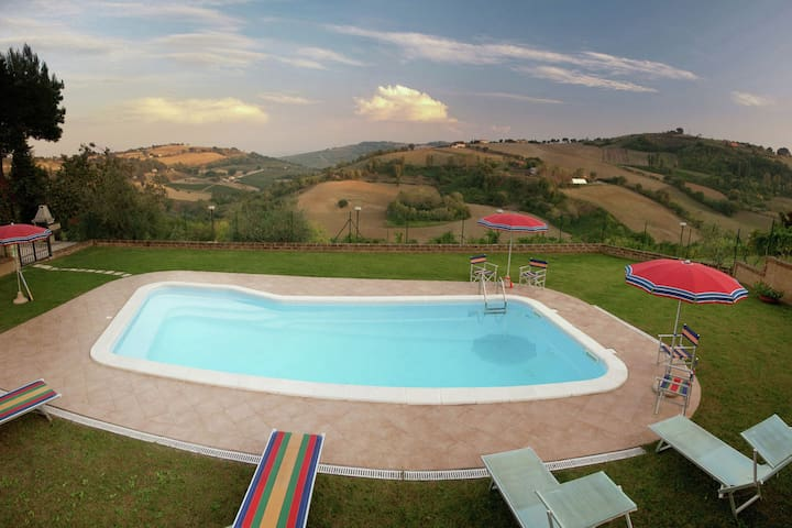 Beautiful Farmhouse in Montecarotto with Private Terrace