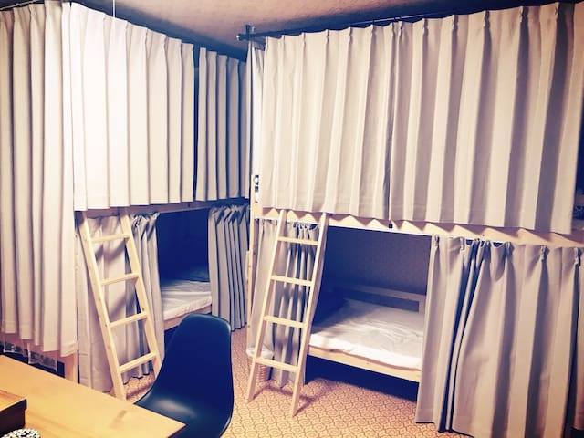 Hostel291,男女混合相部屋 Fukui,echizen-city,takefu,Bed1-4
