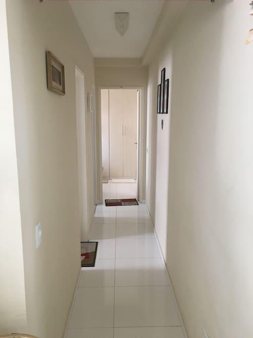 corredor vista da sala