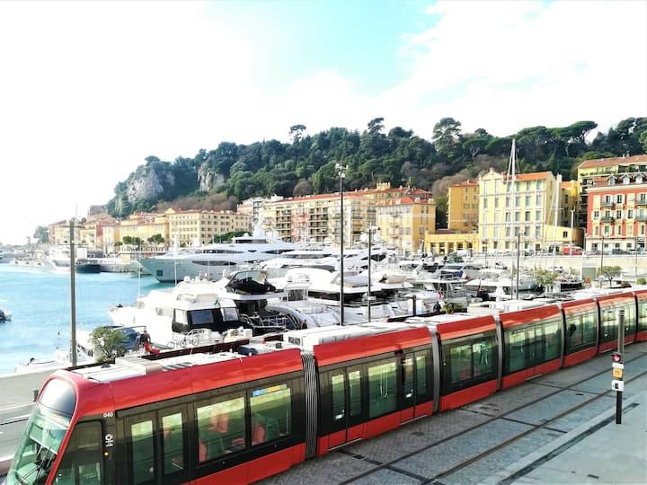 2 pièces Port de Nice / Antiquaires