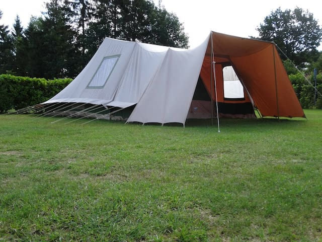 Spacious 5p. tent in the North of Holland, Drenthe