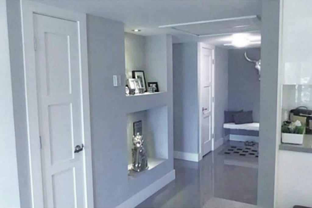Both very spacious Entrance & Hallway with 2 closets