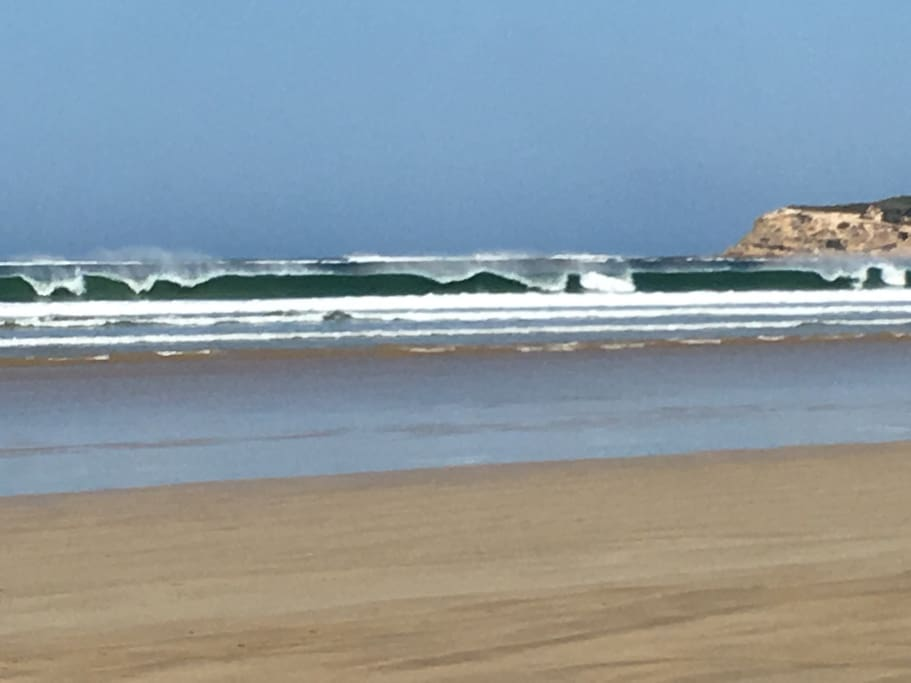Ocean Grove main beach is patrolled- Yes to surfing, swimming, cooling off or just people watching.