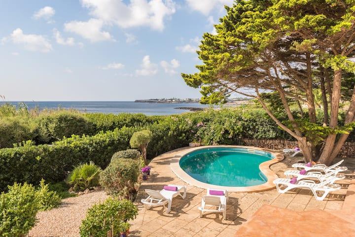Villa MarBlau-private pool , first row to the sea
