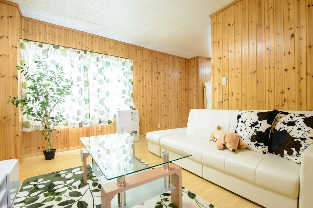 Each room is for 6 people and spacious with a individual living room.
