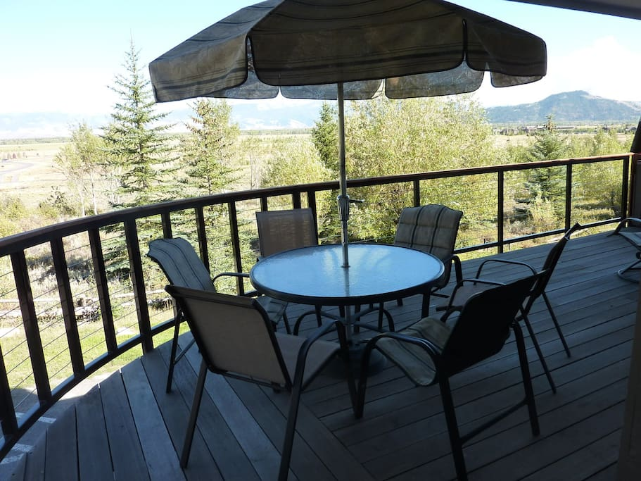Large Wrap Around Deck Overlooking the Valley and Gros- Ventre Mountains