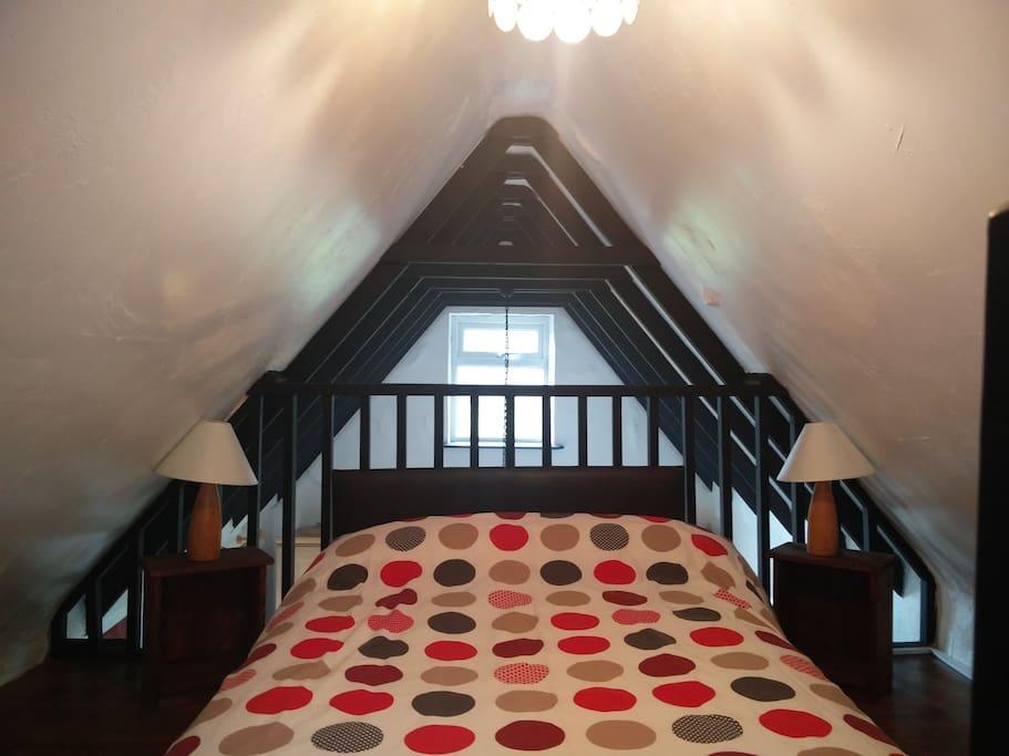 Loft bedroom space