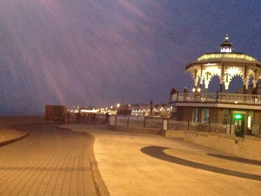 Or towards Brighton, passing the famous bandstand, the 1360 and iconic west pier