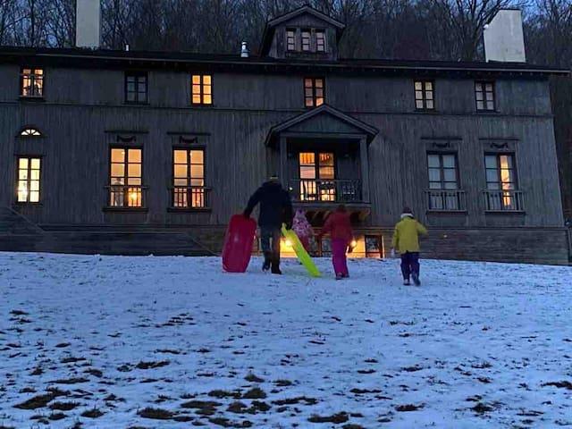 Catskill Park Manor:sled, hike, relax!-Ski nearby