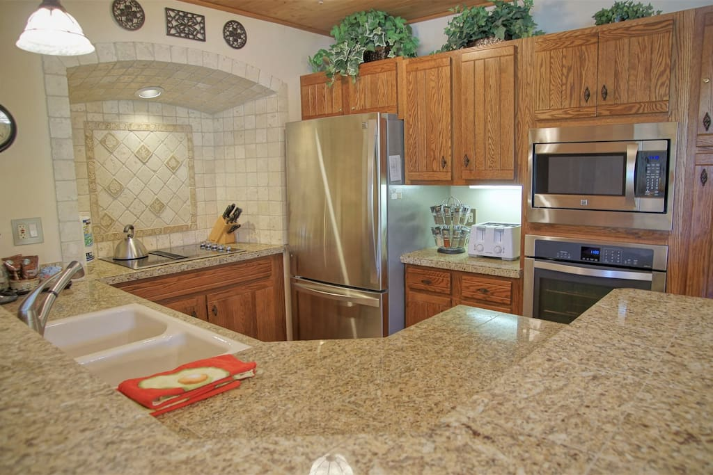 Kitchen is renovated and updated with Granite and Stainless Steel