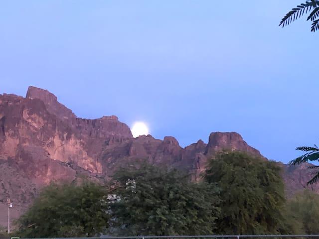 Superstition Mountain View's, warm desert weather.