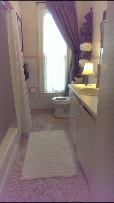 Full bath upstairs. 2nd full bath on ground floor.