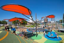 Margaret Mahy Playground (free) is just across the road.