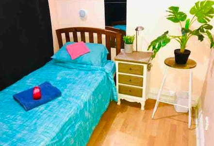 Single bed in shared room