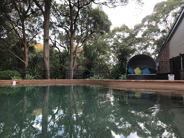 Private room with tree-top views & pool- Newcastle - New Lambton Heights - Haus