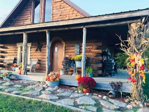美麗景觀的鄉村木屋