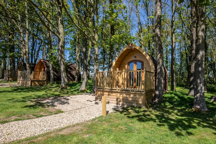 Fully furnished glamping pod for family breaks