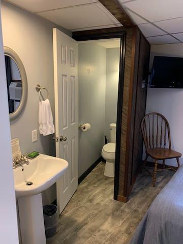 Vanity and Water Closet