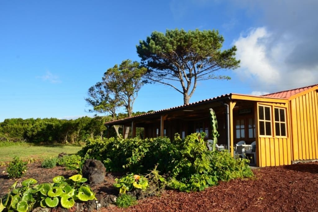 The front of the Sea, Nature, Resort  house with a cozy terrace