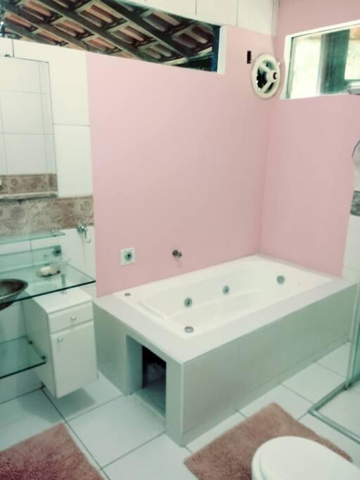Banheiro quarto suite com hidromassagem