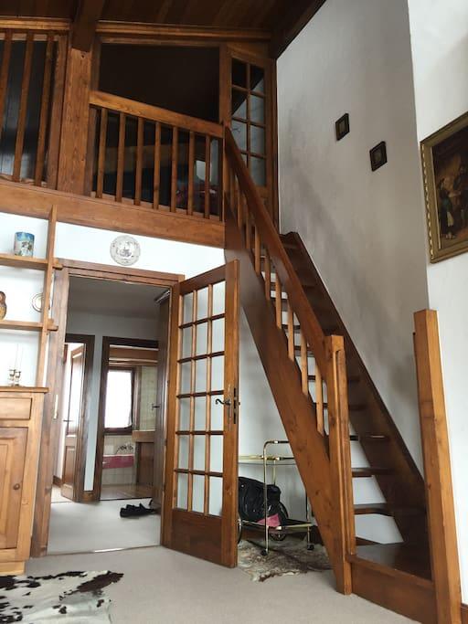 Une mezzanine avec 4 lits