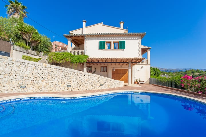 VILLA BELLAVISTA - Villa with private pool in CAMPANET. Free WiFi