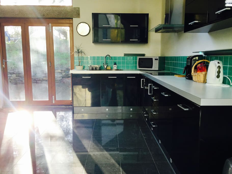 The Kitchen on a sunny cornish morning